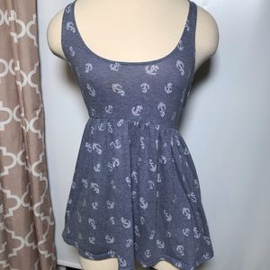 Pins and Needles anthro anchor tank top size M
